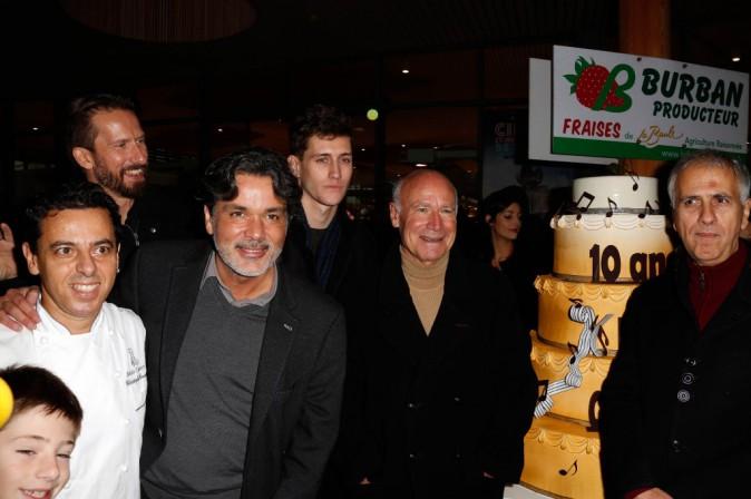 Jean-Baptiste Maunier, Christophe Barratier et Bruno Coulais le 23 novembre 2014