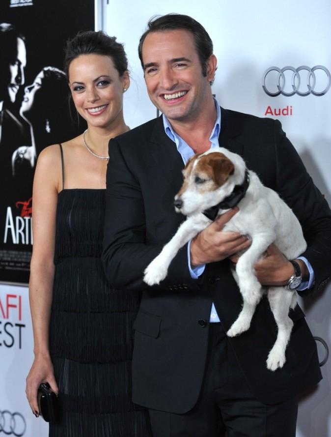 Jean Dujardin et Bérénice Bejo lors de l'avant-première du film The Artist à Hollywood, le 8 novembre 2011.