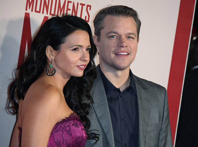 Matt Damon et sa femme à Londres le 11 février 2014