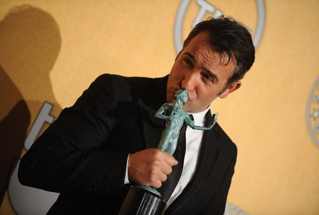 Jean Dujardin lors de la cérémonie des Screen Actors Guild Awards, le 29 janvier 2012 à Los Angeles.