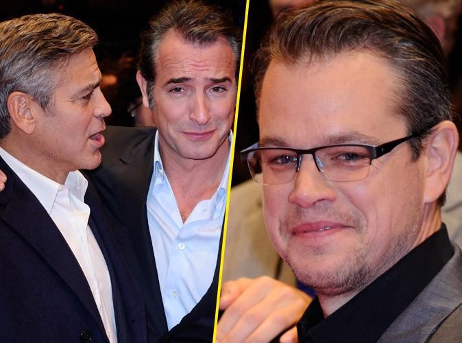 Jean Dujardin : le Frecnhy s'offre un nouveau tapis rouge tout en complicité avec George Clooney et Matt Damon !