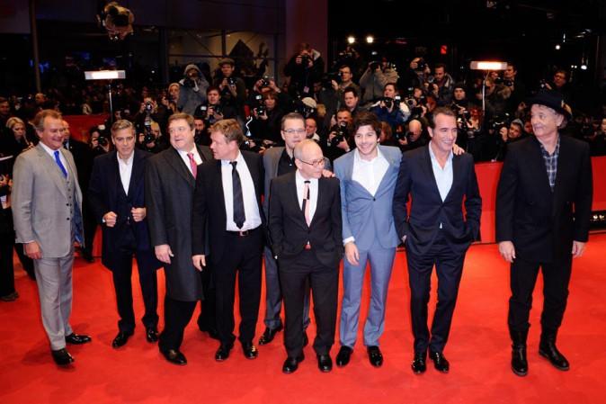 Toute l'équipe de Monuments Men à la 64e Berlinale le 8 février 2014