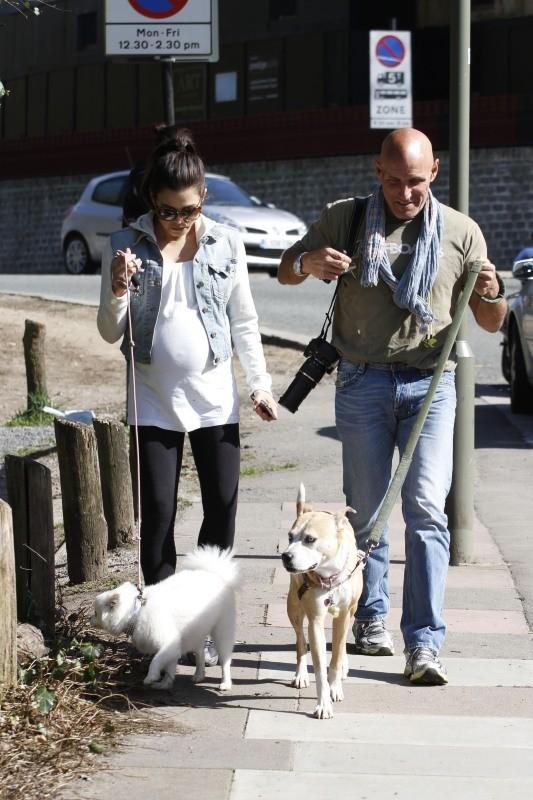 Jenna Dewan et son père à Londres
