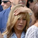 Jennifer Aniston le 20 août 2012 sur le tournage de We're the Millers