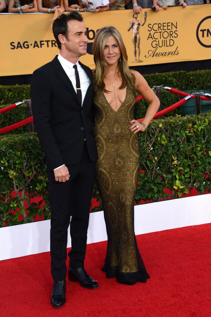 Jennifer Aniston et Justin Theroux le 25 janvier 2015