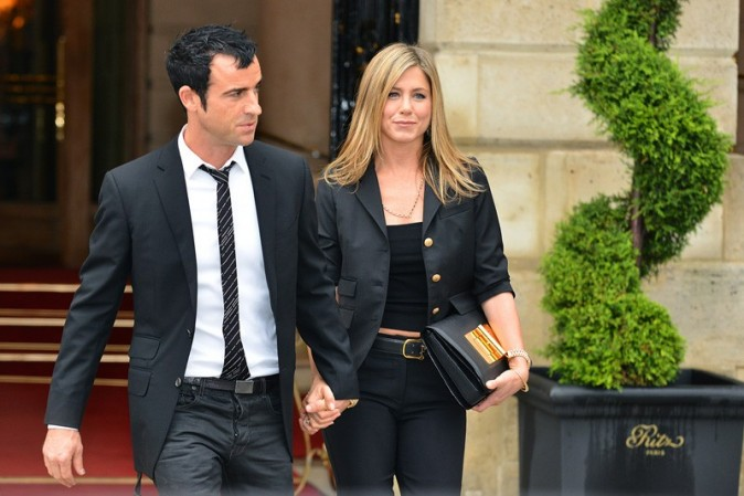 Justin Theroux et Jennifer Aniston à Paris le 13 juin 2012
