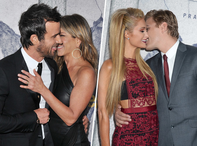 Jennifer Aniston et Justin Theroux, Paris Hilton et Chris Zylka : Démonstration de tendresse à l'avant-première de The Leftovers