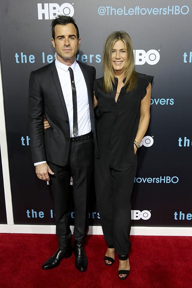 Jennifer Aniston et Justin Theroux le 3 octobre 2015