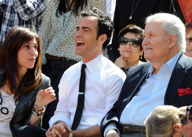 Justin Theroux et le papa de l'actrice, côte à côte !