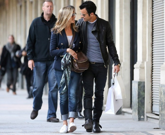 Jennifer Aniston et Justin Theroux à Paris !