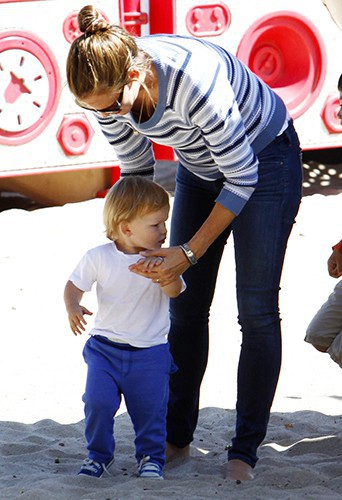 Jennifer Garner et ses enfants à Los Angeles le 15 juillet 2013