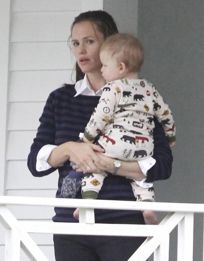 Jennifer Garner avec ses enfants à la Nouvelle-Orléans le 26 septembre 2012