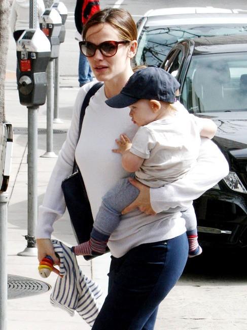 Jennifer Garner et Samuel le 5 mars 2013 à Santa Monica