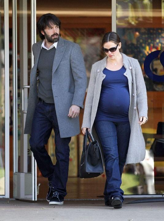 Ben Affleck et Jennifer Garner à la sortie de l'ecole de Violet hier