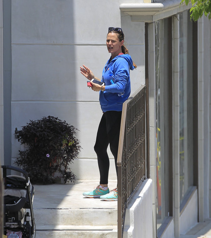 Jennifer Garner sort de la salle de sport