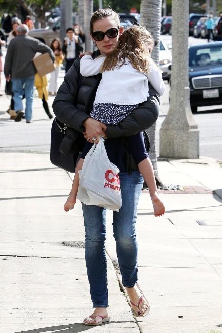 Jennifer Garner et Seraphina le 8 mars 2013 à Pacific Palisades