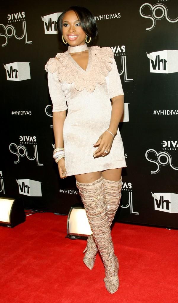 Jennifer Hudson lors de son arrivée sur le tapis rouge du concert VH1 à New York, le 18 décembre 2011.