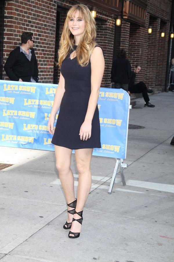 Jennifer Lawrence invitée chez David Letterman !