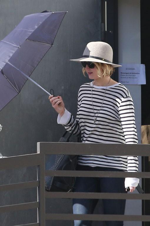 Jennifer Lawrence à West Hollywood le 24 octobre 2014