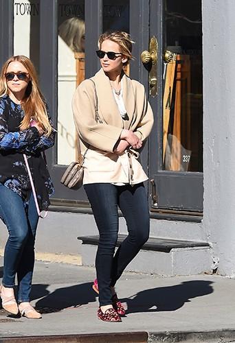 Jennifer Lawrence à New York le 20 avril 2014