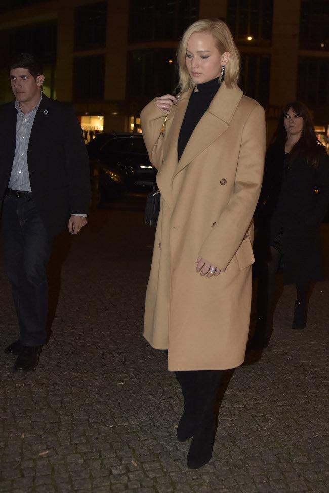 Jennifer Lawrence à Berlin le 1er novembre 2015