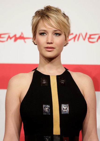 "Jennifer Lawrence lors du photocall de ""Hunger Games : L'Embrasement"" à Rome, le 14 novembre 2013."