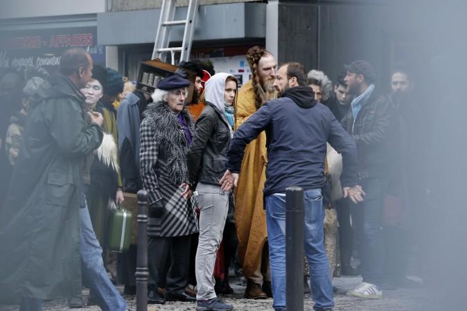 Tournage d'Hunger Games à Ivry-sur-Seine le 7 mai 2014