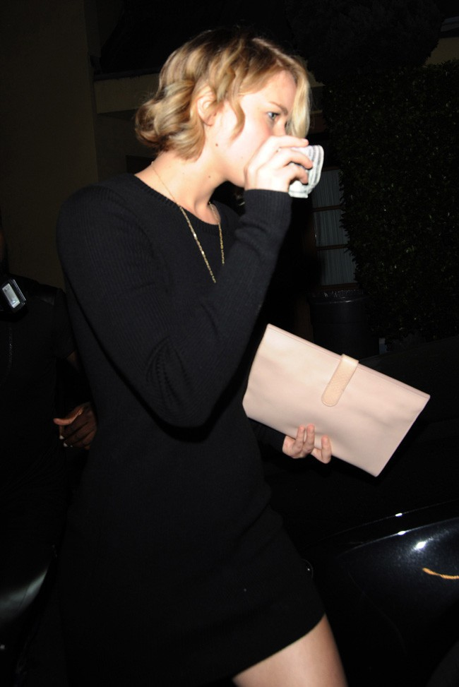 Jennifer Lawrence à Los Angeles le 22 octobre 2014