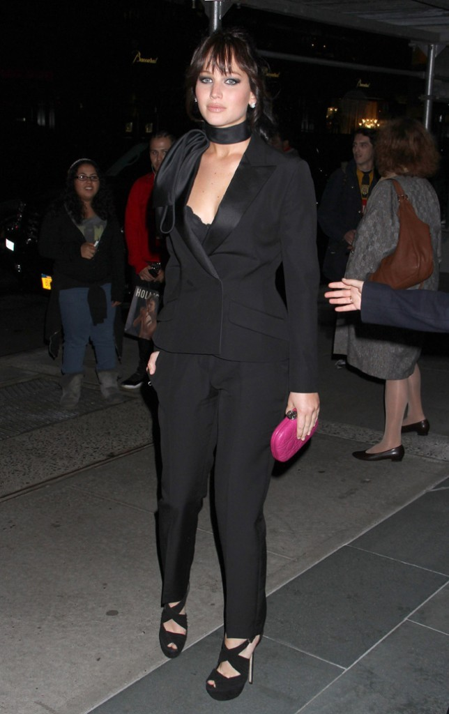 Jennifer Lawrence à New-York le 11 novembre 2012 pour la projection de Silver Linings Playbook