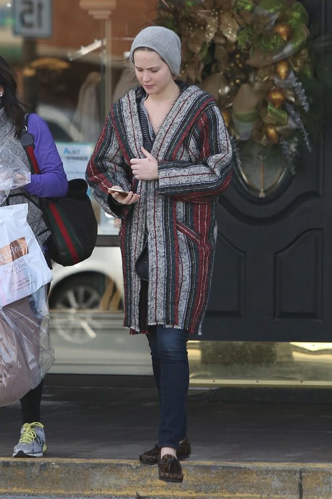 Jennifer Lawrence à Louisville le 28 novembre 2014