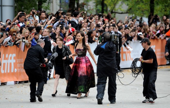 Jennifer Lawrence à Toronto le 8 septembre 2012
