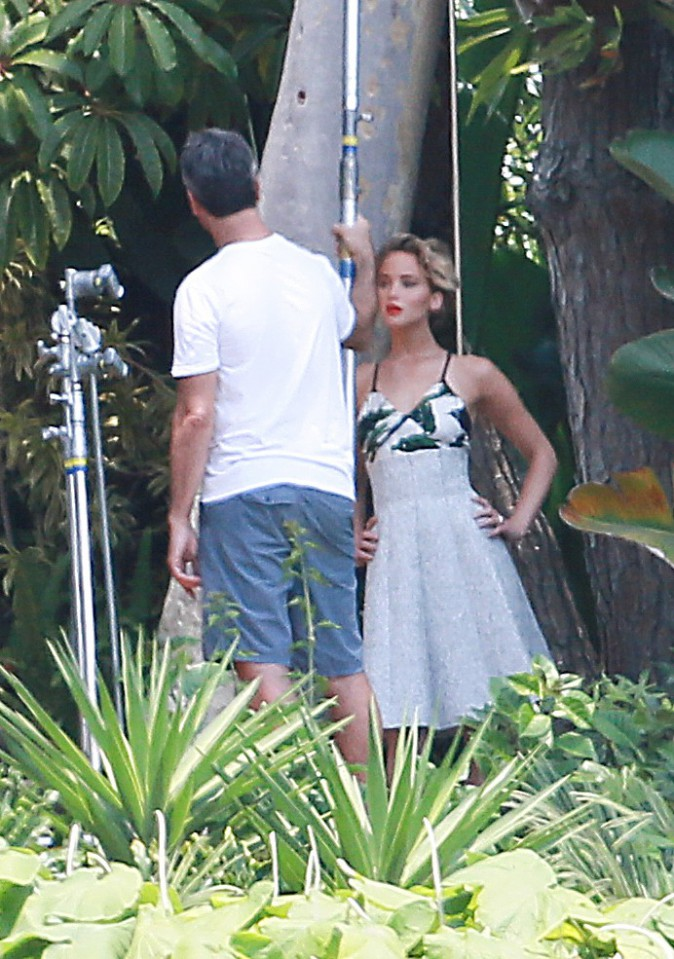Jennifer Lawrence en shooting à Hollywood le 29 juillet 2014