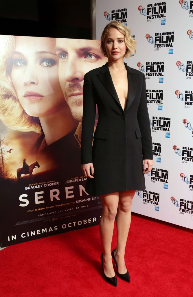 Jennifer Lawrence à Londres le 13 octobre 2014