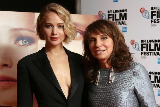 Jennifer Lawrence et Susanne Bier à Londres le 13 octobre 2014