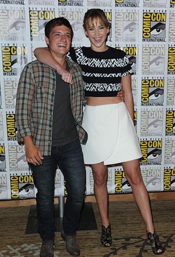 Jennifer Lawrence à la Comic Con de San Diego le 19 juillet 2013