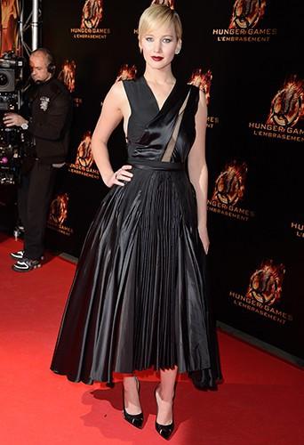 Jennifer Lawrence à Paris le 15 novembre 2013