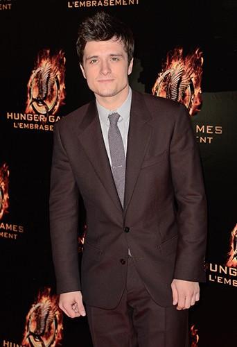 Josh Hutcherson à Paris le 15 novembre 2013