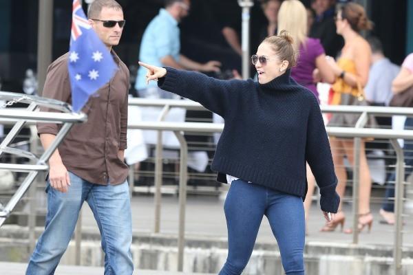 Jennifer Lopez et sa famille, Sydney, 15 décembre 2012.