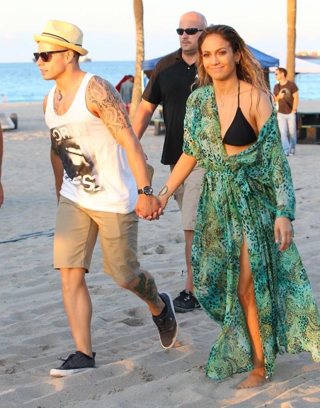Jennifer Lopez et Casper Smart le 5 mai 2013 à Miami
