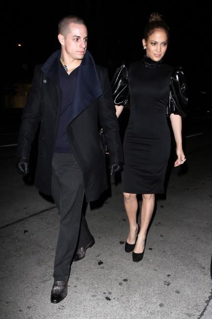 Jennifer Lopez et Casper Smart le 16 janvier 2013 à Los Angeles