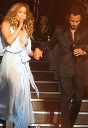 Jennifer Lopez et Marc Anthony en concert à Puerto Rico le 22 décembre 2012