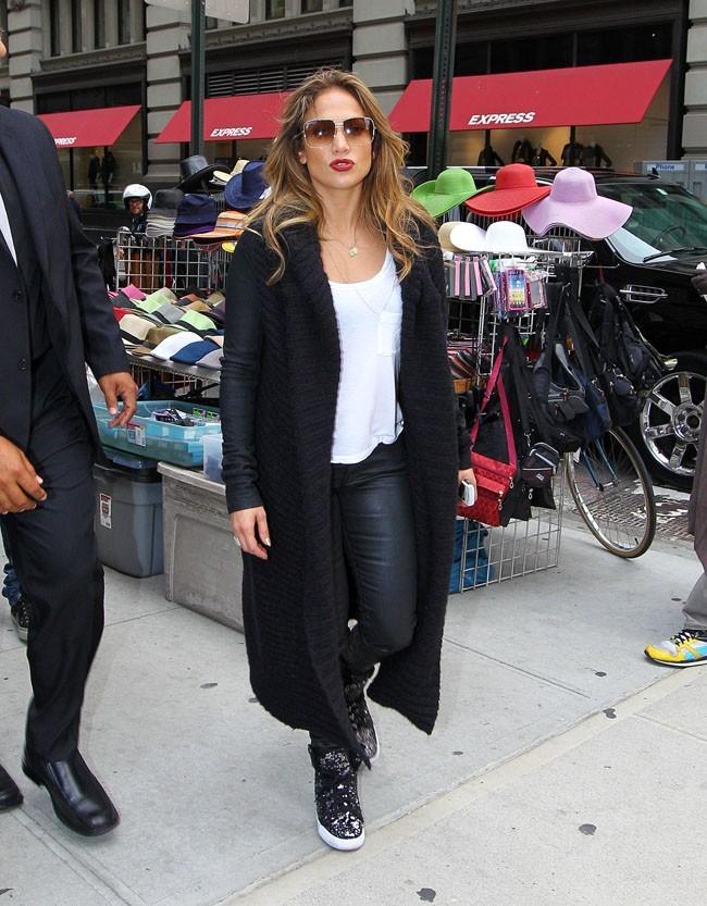 Jennifer Lopez le 12 septembre 2012 à New York