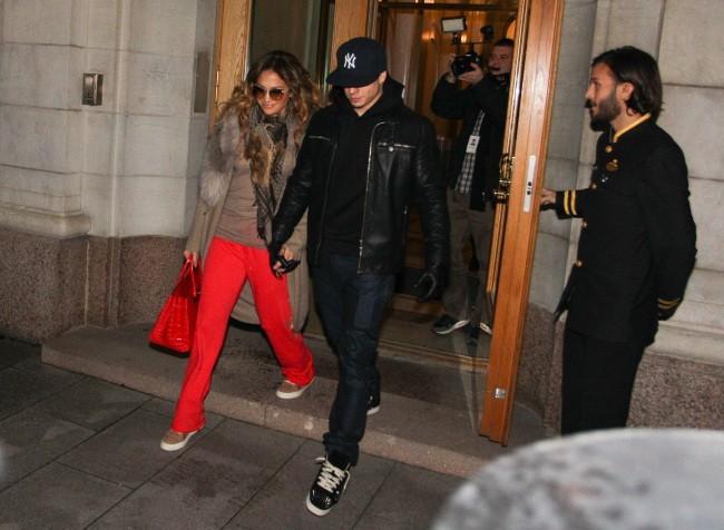 Jennifer Lopez et Casper Smart le 5 novembre 2012 à Stockholm