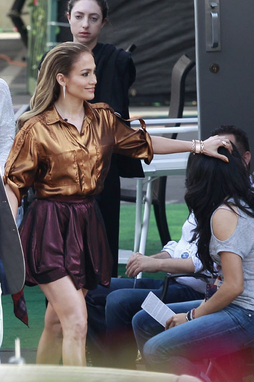 Jennifer Lopez en route pour un nouveau prime d'American Idol à Los Angeles le 23 avril 2014