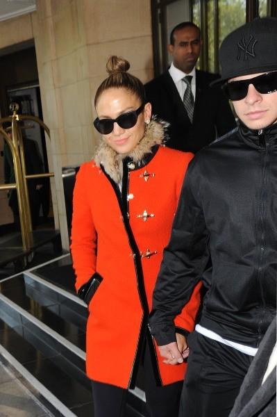 Jennifer Lopez et Casper Smart à Londres, le 27 mai 2013.