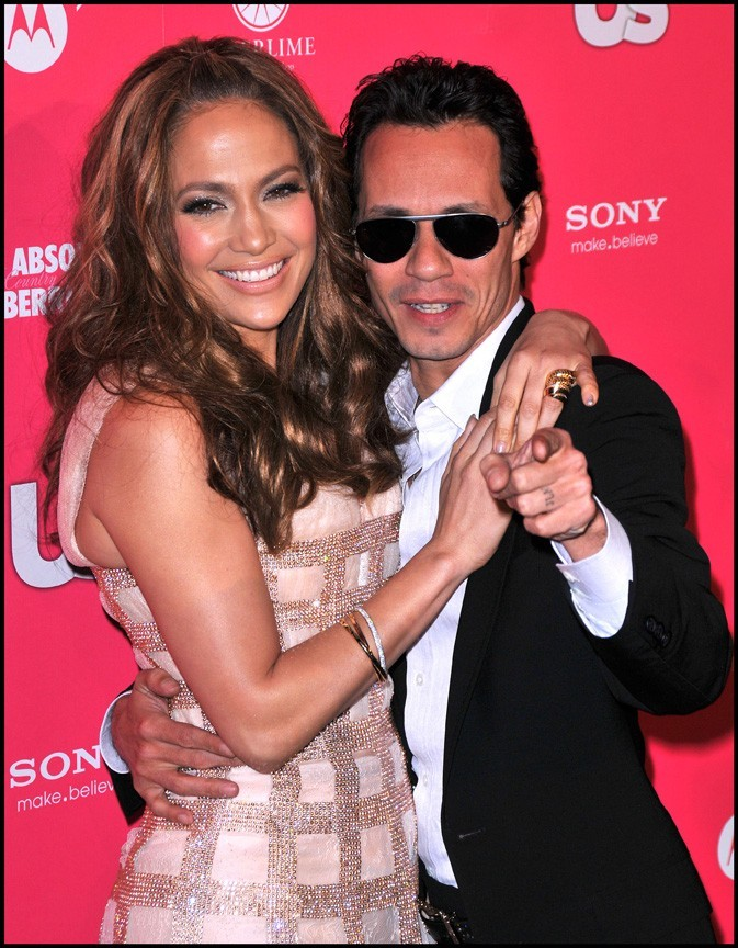 Jennifer Lopez et Marc Anthony lors de la soirée US Weekly Hot Hollywood Style Issue, le 22 avril 2010.