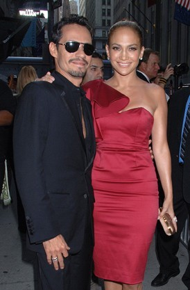 Jennifer Lopez et Marc Anthony lors du Samsung Hope for Children Gala, le 7 juin 2011.