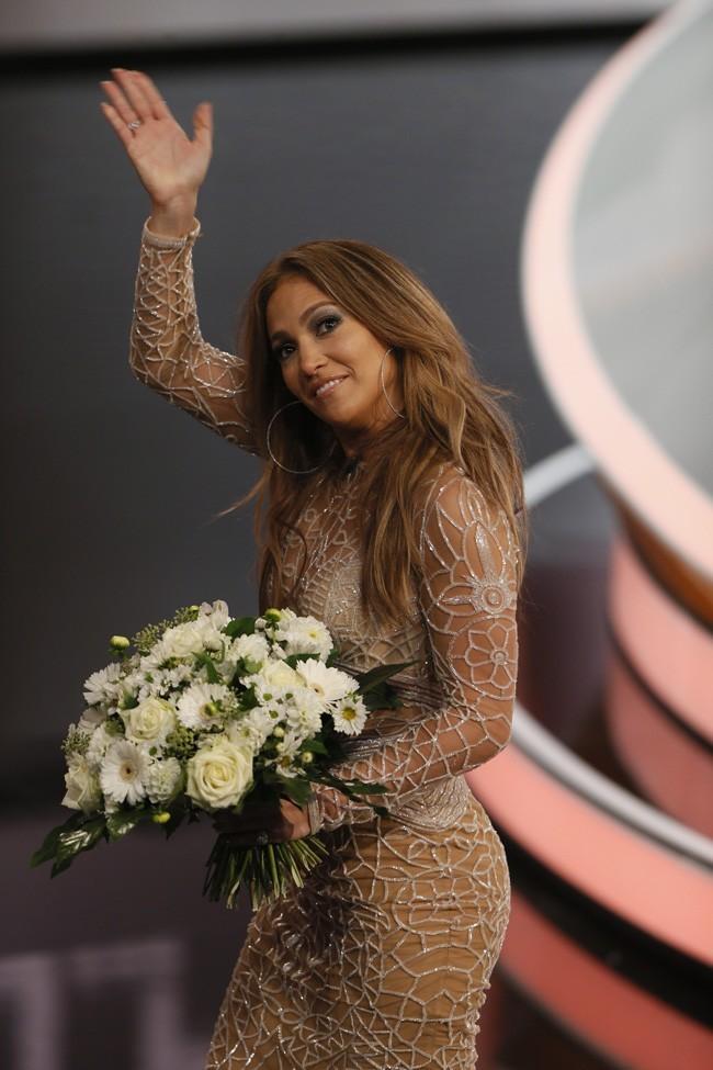 Jennifer Lopez le 6 octobre 2012 à Dusseldorf, pour une émission allemande