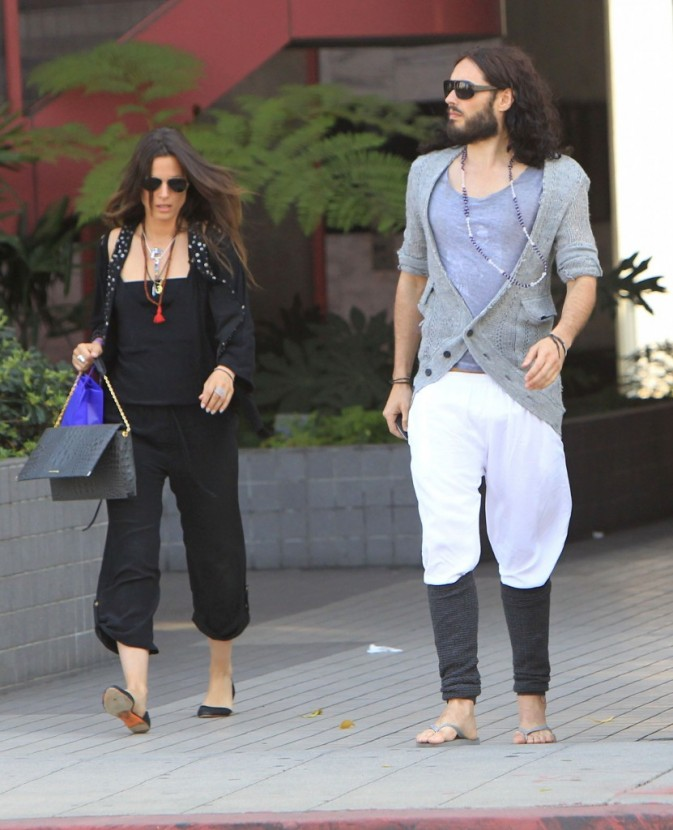 Russell Brand et sa petite-amie Nikolett Barabas