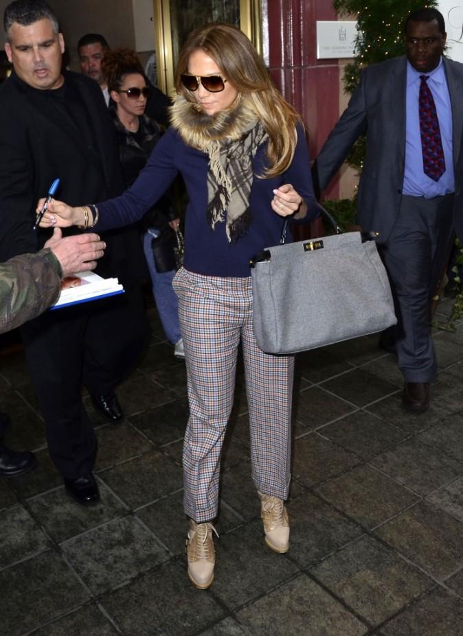 Jennifer Lopez à New York, le 1er février 2012.